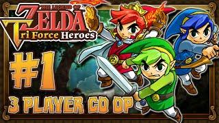 getlinkyoutube.com-The Legend of Zelda Triforce Heroes - Part 1 - 3 PLAYER CO OP Forest Temple