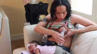 getlinkyoutube.com-How To Pump Breast Milk {Medela Dual Pump} : New Mothers 101
