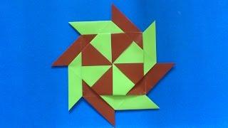 getlinkyoutube.com-Cara Membuat Origami Shuriken Ninja 8 Bintang | Origami Shuriken Ninja