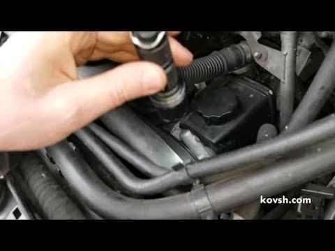 Чтобы временно убрать стук, пустили зимой ремень мимо шкива кондиционера, Mercedes Vito (W639) OM646