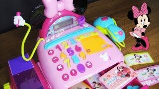getlinkyoutube.com-玩迪士尼 米妮老鼠 玩具收銀機 玩具鈔票 結帳台 玩具開箱