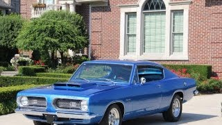 getlinkyoutube.com-1968 Plymouth Barracuda Classic Muscle Car for Sale in MI Vanguard Motor Sales