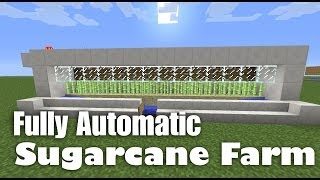 getlinkyoutube.com-Fully Automatic Sugarcane Farm Tutorial (works in Minecraft 1.7.4, 1.7.5 and 1.8)