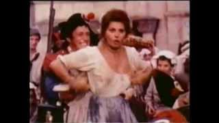 Sophia Loren In RARE Old Euro Movie CLip