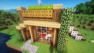 getlinkyoutube.com-Майнкрафт: Как построить КРАСИВЫЙ СТАРТОВЫЙ ДОМ в Minecraft