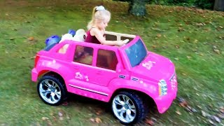 getlinkyoutube.com-Playing in the Park on the Pirate Ship Playground for Kids W Pink Car  Baby Alive Snackin Sara Doll