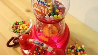 getlinkyoutube.com-The Dubble Bubble Gumball Machine Phone ~ 電話付ガムボールマシン!
