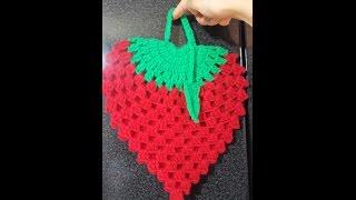 getlinkyoutube.com-Agarradera de Frutilla a Crochet