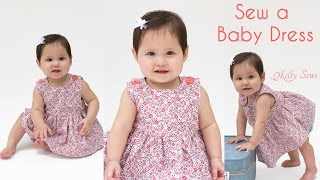 getlinkyoutube.com-How to Sew a Baby Dress - Free Pattern