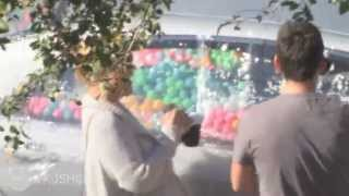 getlinkyoutube.com-10,000 Ping Pong Balls In A Car