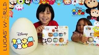 TSUM TSUM Giant PLAY-DOH Surprise Egg & GIVEAWAY with Disney Figures, Blind Bags and BIG Surprises