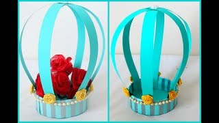Tape Roll Craft Idea || Easy  Craft ||DIY Paper Basket || Centerpiece For Table