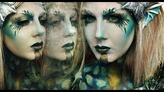 getlinkyoutube.com-Dark Siren/Mermaid HALLOWEEN TUTORIAL
