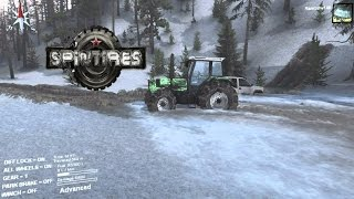 getlinkyoutube.com-SpinTires Best truck for the Snowy Hill