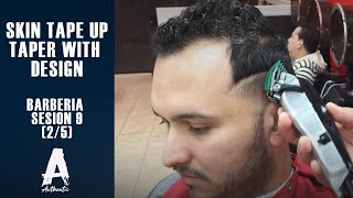 getlinkyoutube.com-Barberia Sesion 9 (skin Tape up/Taper with design) 2/5