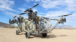 getlinkyoutube.com-AT Black Knight Transformer first cargo truck helicopter VTOL vertical takeoff and landing aircraft