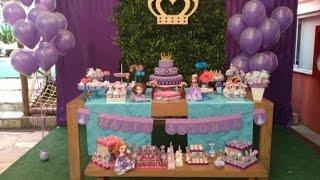 getlinkyoutube.com-Ideias Decoração e Lembrancinhas Festa Aniversário Princesa Sofia