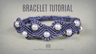 getlinkyoutube.com-DIY Macramé Wave Bracelet with Beads | Tutorial