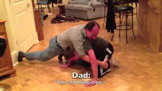 getlinkyoutube.com-Me and my Dad in a Unfair Wrestling Match