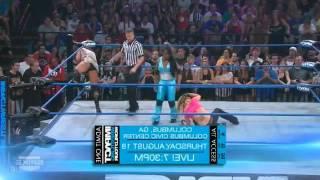 getlinkyoutube.com-Impact Wrestling 7/7/11 Velvet Sky vs Jackie Moore & ODB