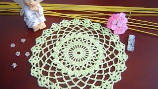 getlinkyoutube.com-Como Aprender a tejer tapete Fácil, a crochet paso a paso DIY