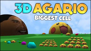 getlinkyoutube.com-FIRST EVER AGARIO 3D! THE BIGGEST #1 AGARIO CELL in 3D AGAR.IO (BIOME3D) (Agar.io #93)