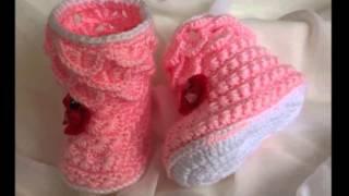 getlinkyoutube.com-botitas tejidas a crochet para recien nacido