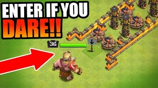 getlinkyoutube.com-INSANE RED BARBARIAN KING TROLL BASE!!! - EPIC GAME PLAY! - Clash Of Clans