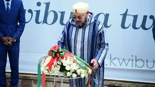 getlinkyoutube.com-MOROCCO: KING MOHAMMED VI PAYS TRIBUTE TO RWANDA GENOCIDE VICTIMS