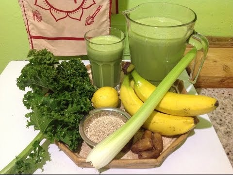 Banana Celery Kale Shake ~ Green Smoothie