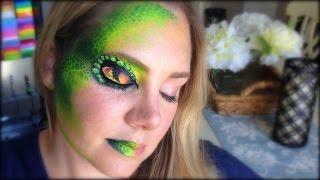 getlinkyoutube.com-Snake Eye Face Painting and Makeup