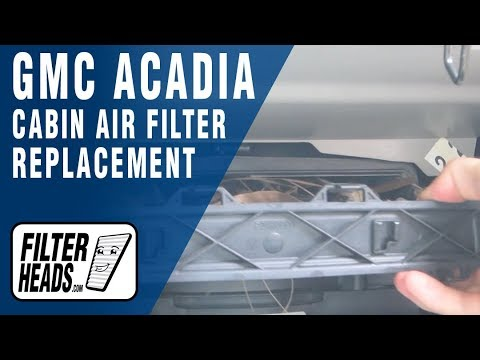 How to Replace Cabin Air Filter GMC Acadia