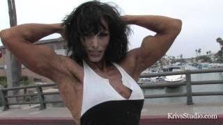 getlinkyoutube.com-Deidre Pagnanelli peaked biceps flexing HD