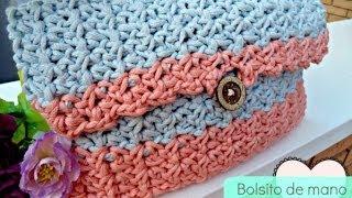 Bolso de mano de ganchillo - Easy Crochet HandBag - Tutorial paso a paso