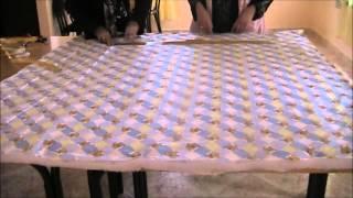 getlinkyoutube.com-المرحلة الاولى من خياطة غطاء سرير 01اطفال