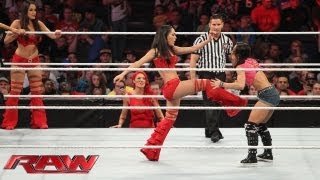 getlinkyoutube.com-Natalya, Brie Bella, Nikki Bella, Cameron & Naomi vs. AJ Lee, Aksana, Layla, Alicia Fox & Tamina: Ra