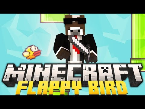 Minecraft FLAPPY BIRD Minigame - Can You Beat My High Score Record? (Flappy Bird in Minecraft)