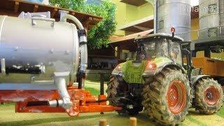 getlinkyoutube.com-RC TRACTOR at dirty farm work - farm toys in action