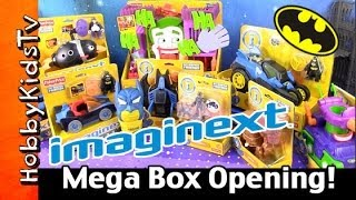 getlinkyoutube.com-Batman Imaginext Mega Box Opening Play-Doh Egg Surprise Joker Clayface Penguin Catwoman