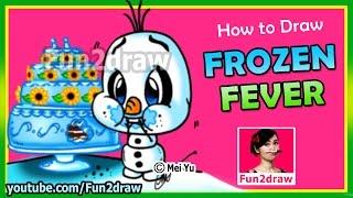 getlinkyoutube.com-How to Draw A Olaf From Frozen - Fun2draw