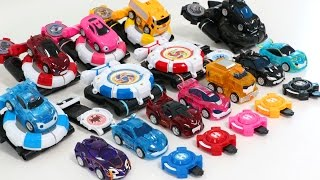 getlinkyoutube.com-Power Battle Watch Car Season2 new Ultra Watch Car Power Coin Battle Play Mini Shooting Transformer