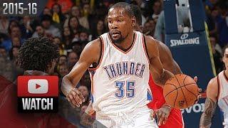 getlinkyoutube.com-Kevin Durant Full Highlights vs Rockets (2016.01.29) - 33 Pts, 12 Reb, BEAST!