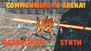 getlinkyoutube.com-Fallout 4 Arena!  Assaultron Dominator vs. Synth Assaulter