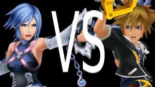 getlinkyoutube.com-Dissidia 012 - Aqua and Terra vs Sora and Roxas
