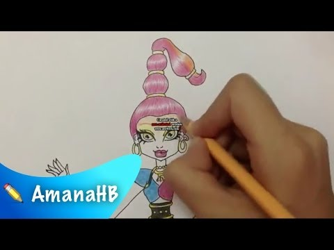 Speed Drawing of GiGi Grant from Monster High