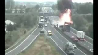 Fatalny wypadek cieżarówki