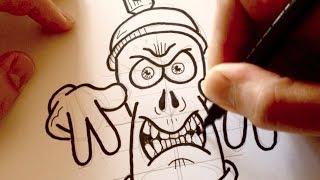getlinkyoutube.com-Drawing a Cartoon Angry Graffiti Spraycan - Desenhando uma Lata de Tinta Mal-Encarada