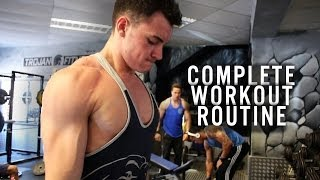 getlinkyoutube.com-My Complete Gym Workout Routine! UK Teen Fitness Model