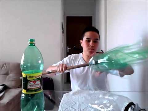 Como fazer uma vassoura com garrafas pet. Projeto ;) ♦²