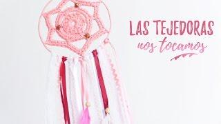 getlinkyoutube.com-ATRAPASUEÑOS rosa #LasTejedorasNosTocamos | Ahuyama Crochet